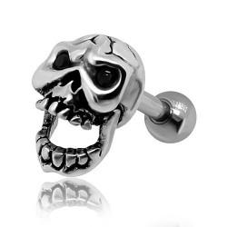 Kolczyk do ucha - Upiorna czaszka KU552