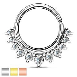 Kółko rozginane z kryształkami PK557