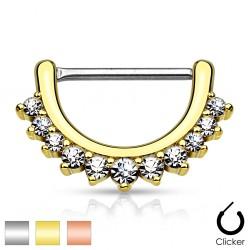 Clicker z kryształkami do sutka PX546