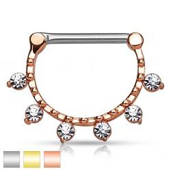 Clicker z sześcioma kryształkami do sutka PX548