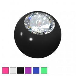 Akrylowa kolorowa kulka z kryształkiem PD301