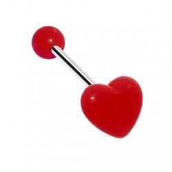 Kolczyk do języka - Kolorowe serce