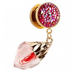 Plug - czerwony lodowy kryształ TT562