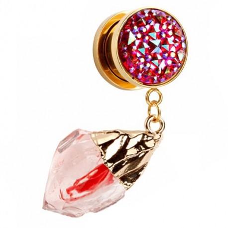 Plug - czerwony lodowy kryształ