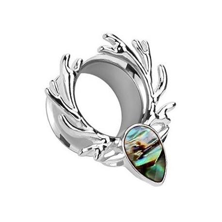 Tunel - srebrne poroże z masą perłową