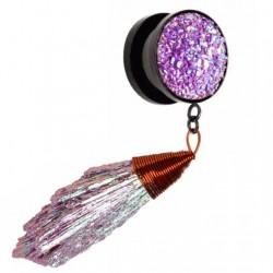 Plug - fioletowy wisiorek