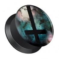 Plug z odkręcaną ścianką - Krzyż galaxy