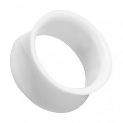 Białe akrylowe tunele do uszu