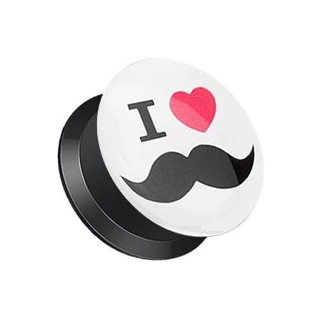 Plug z odkręcaną ścianką - Mustache
