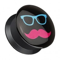 Plug z odkręcaną ścianką - Pink Mustache