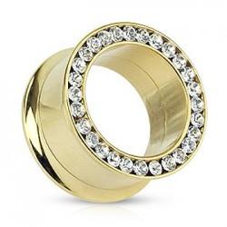 Złoty tunel z kryształkami TT546