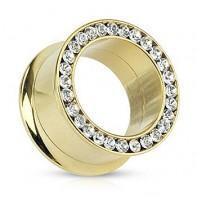 Złoty tunel z kryształkami