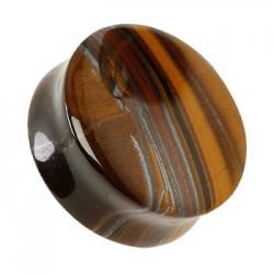 Plug z kamienia - Tygrysie Oko TT812