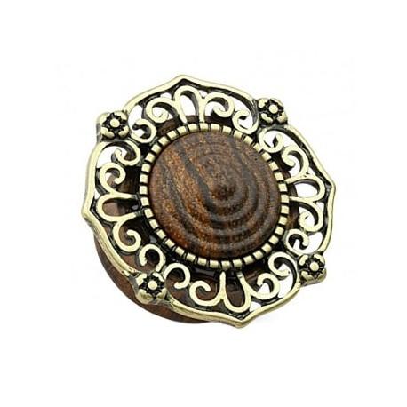 Drewniany plug z ornamentem
