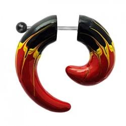 Oszukana spirala z kulką - Trzykolorowa KO311