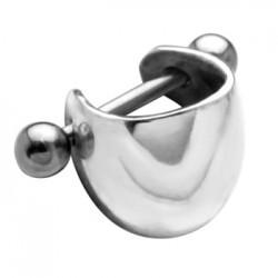 Kolczyk do ucha - półkulista srebrna ozdoba KU616