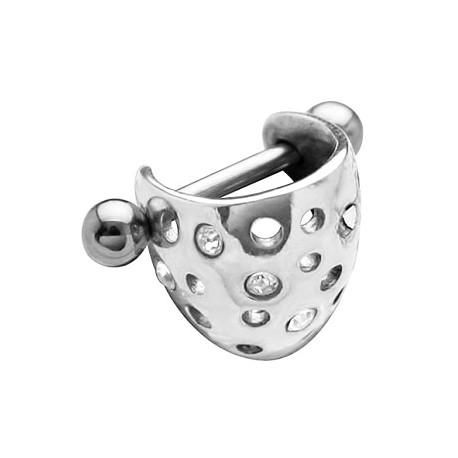 Kolczyk do ucha - Obręcz z dziurkami