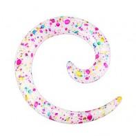 Spirala skrapiana farbką