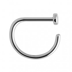 Tytanowy kolczyk do nosa - D-ring PN404