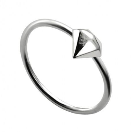 Kolczyk do nosa - Kółko z diamentem