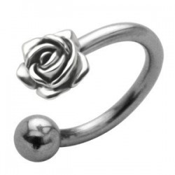 Podkówka z ozdobą - Róża PP517