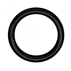 Czarny segment ring clicker z tytanu