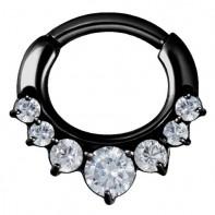 Czarny clicker z siedmioma kryształkami