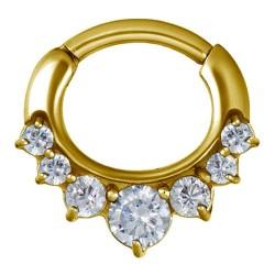 Złoty clicker z siedmioma kryształkami PN562