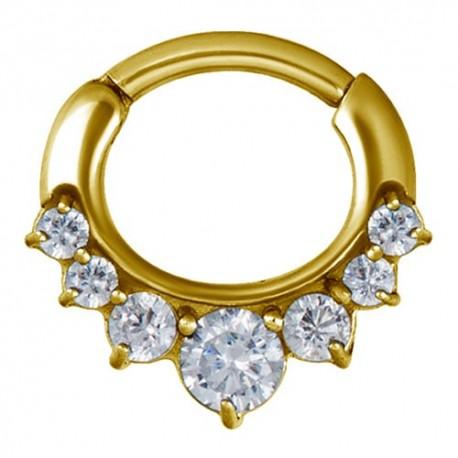 Złoty clicker z siedmioma kryształkami