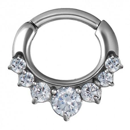Srebrny clicker z siedmioma kryształkami