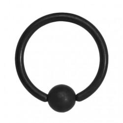 Czarne matowe kółko z kulką PK542