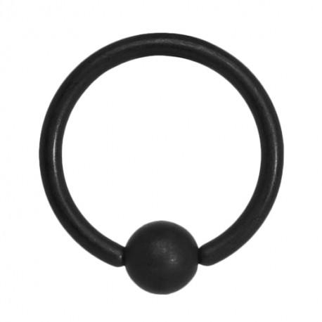 Czarne matowe kółko z kulką