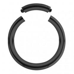 Stalowy czarny segment ring PK504