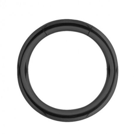Tytanowy czarny segment ring