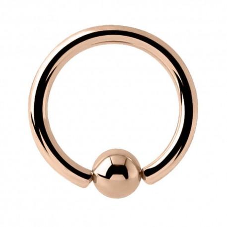 Kółko CBR Captive Bead Ring w kolorze różowego złota