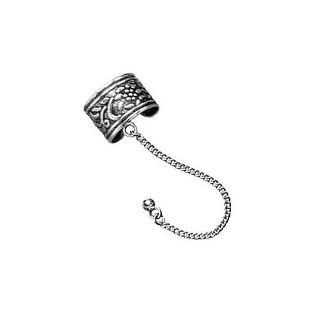 Nausznica - Wzorzyste kółko z łańcuszkiem