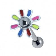 Kolczyk do ucha - Kolorowy kwiatek