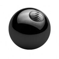 Stalowa czarna kulka