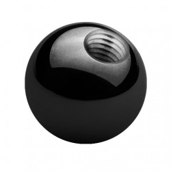 Tytanowa czarna kulka PD412