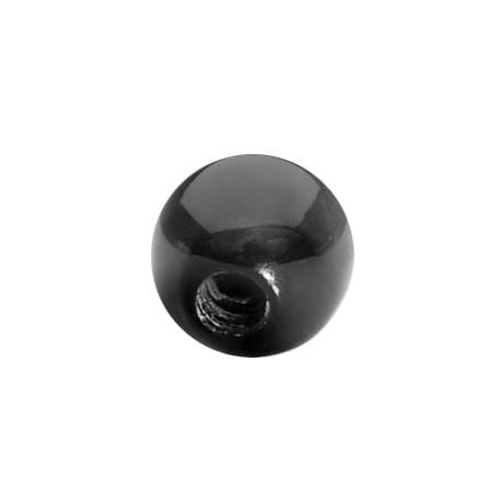 Czarne akrylowe kulki