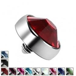 Nakrętka na microdermal - Kolorowy kryształek PI413