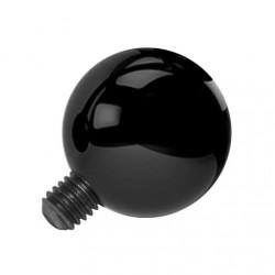 Nakrętka na microdermal - Czarna kulka