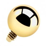 Nakrętka na microdermal - złota kulka