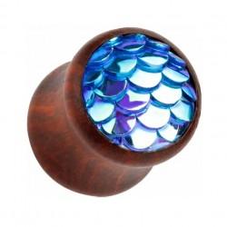 Drewniany plug - Niebieska syrenka TT945