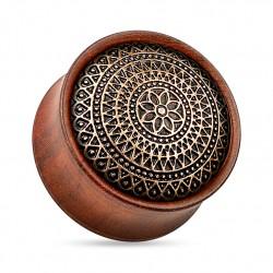 Drewniany plug - Mandala z palisandru TT929