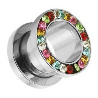 Tunel z odkręcaną ścianką - Kolorowe kryształki