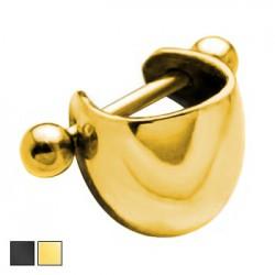 Kolczyk do ucha - półkulista ozdoba KU557