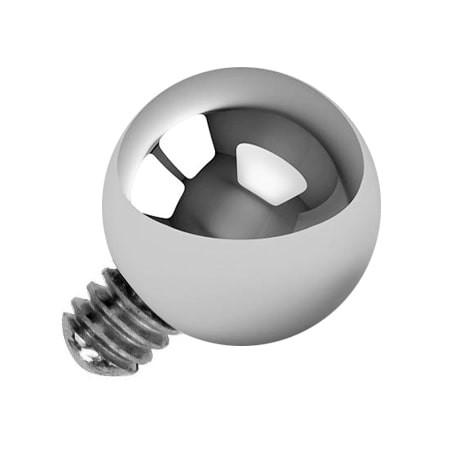 Tytanowa nakrętka - srebrna kulka