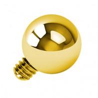 Tytanowa nakrętka - złota kulka