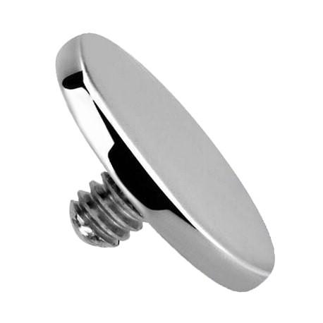 Tytanowa nakrętka - srebrny dysk